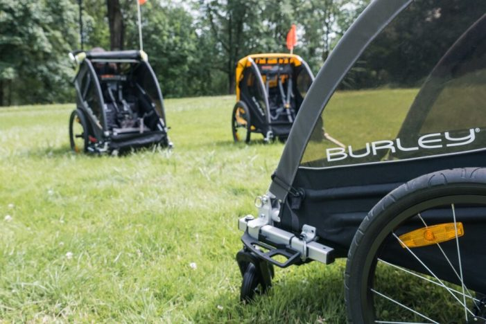 Burley children's bike trailers for rent
