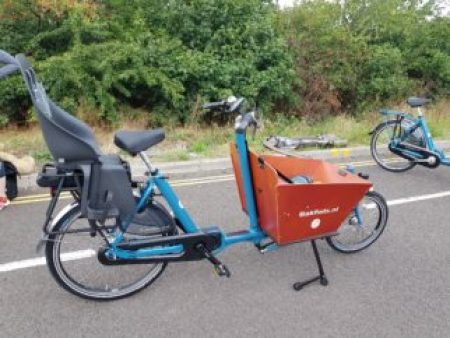 Bakfiets Short Side view - best family cargo bike for transporting a family of kids