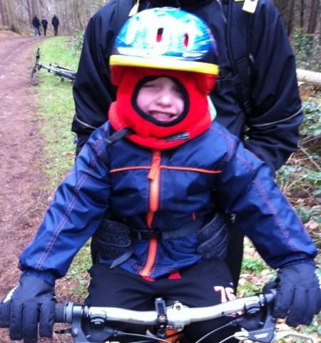 Cross bar bike seat for young children