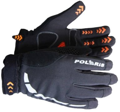Polaris Mini Hoolie kids black winter cycling gloves