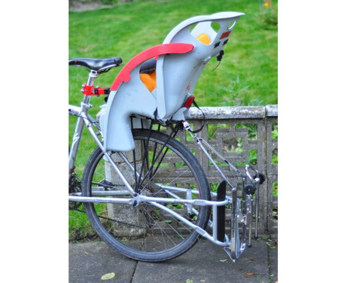 Rear bike seat fitted to the FollowMe Tandem