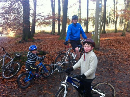 Riding the forest trails at Delamere Forest with young children - some great traffic free cycle routes
