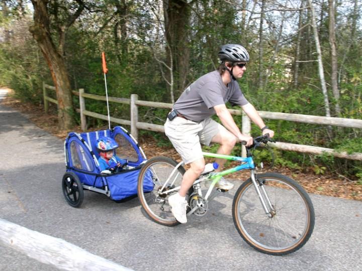 Child bike trailer