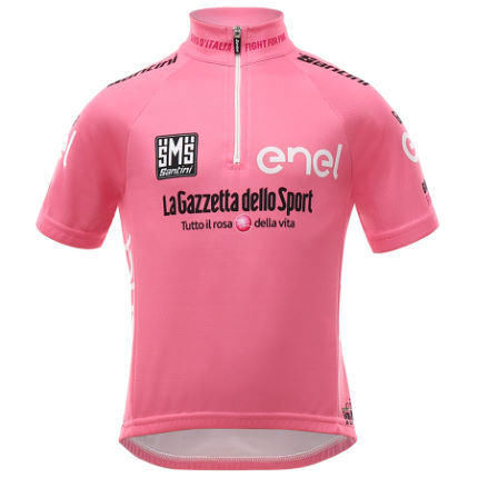 Kids size Giro d'Italia Cycle Jerseys - 2016 pink leaders jersey
