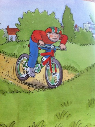 Book about children riding bikes for young readers