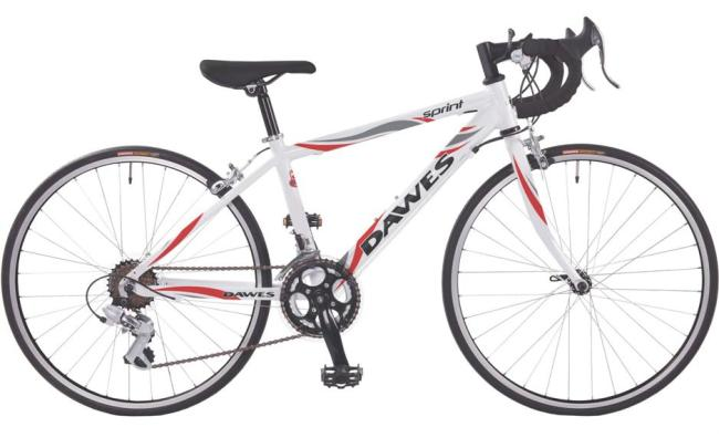 The best road racing bikes for kids with 20 inch wheels - the Dawes Sprint in white