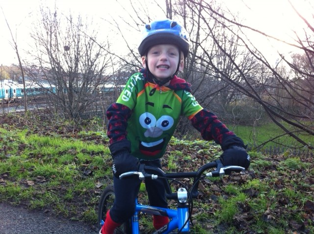 Mr Excited kids cycling jersey winter ride