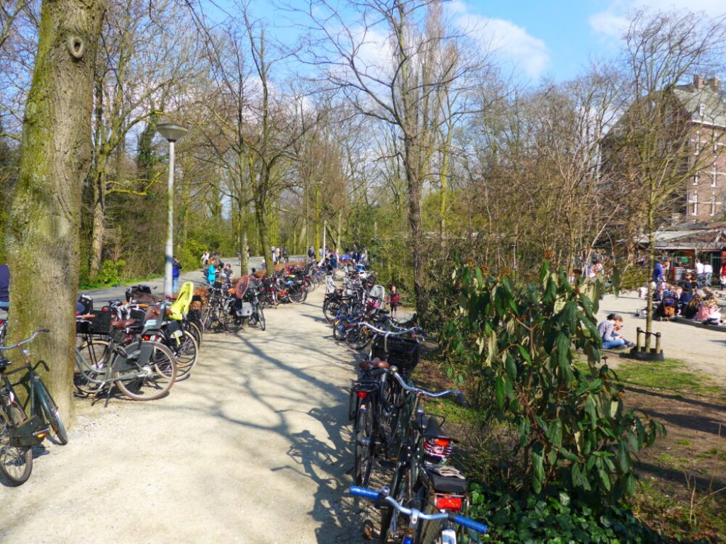 Cycle parking in Vondelpark Amsterdam