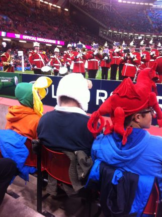 Welsh Fans at the World Cup Rugby