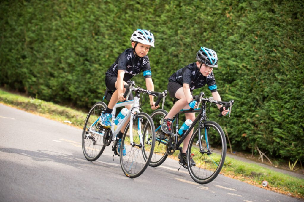 Kid size Team Sky cycling kit is now available - from bikes to helmets, jerseys to mitts!
