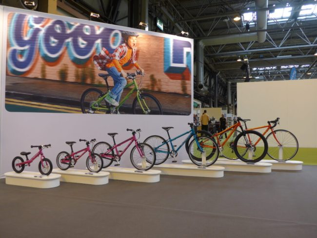 The full Islabikes range on display at the 2016 Cycle Show