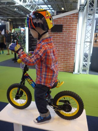 Kiddimoto Valentio Rossi Balance Bike at the 2016 Cycle Show NEC Birmingham