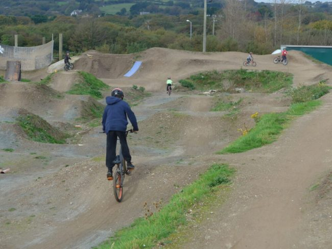 Kids of all ages can ride The Track at Portreath, near Redruth in Cornwall