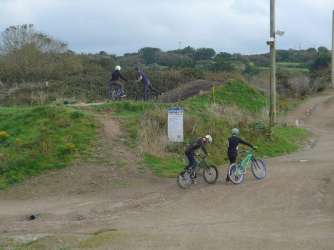 The Stunt area at The Track Bike Park, Cornwall