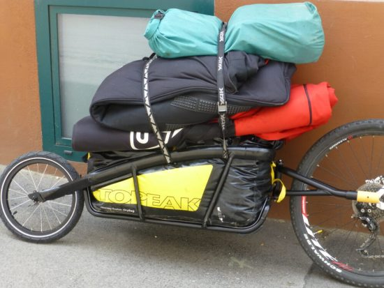 Review of the Topeak Journey single wheel bike trailer