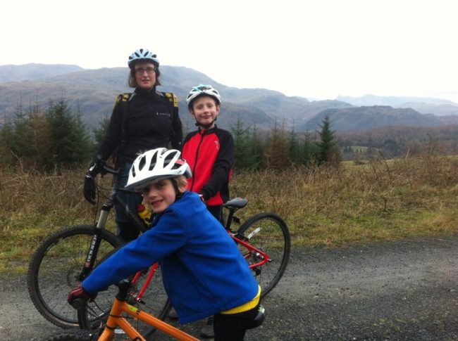 Winter Cycling with kids