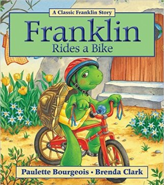 best cycling presents for a 4 year old this Christmas - Franklin rides a bike book