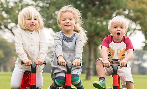 The Toddlebike 2 is aimed at ages 18 month and over