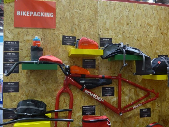 Alpkit stand at the London Bike Show