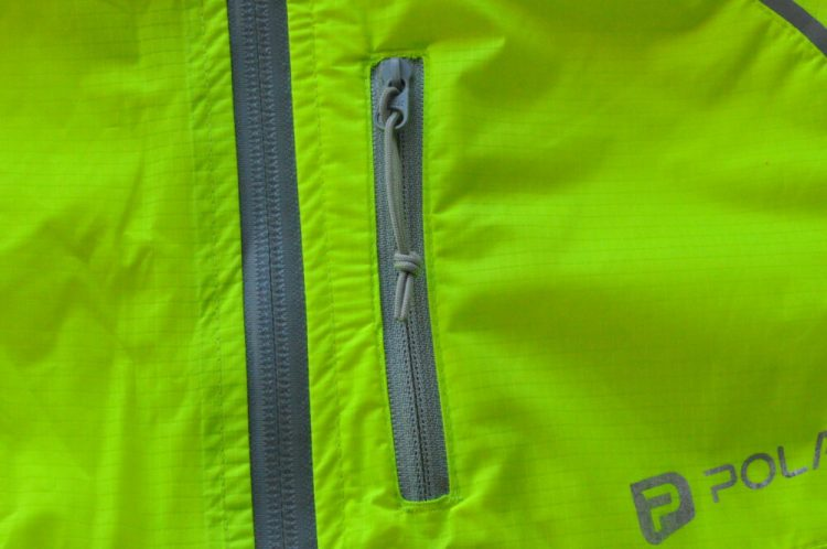 Polaris Strata kids waterproof cycling jacket zip toggle
