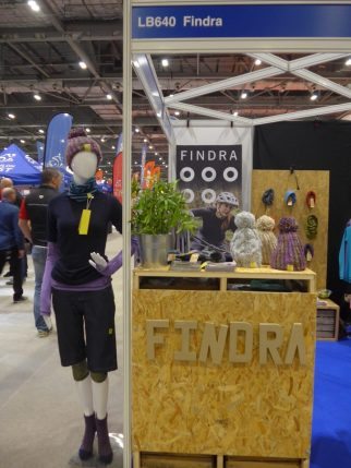 The Findra womens cycling clothing stand at the London Bike Show 2017