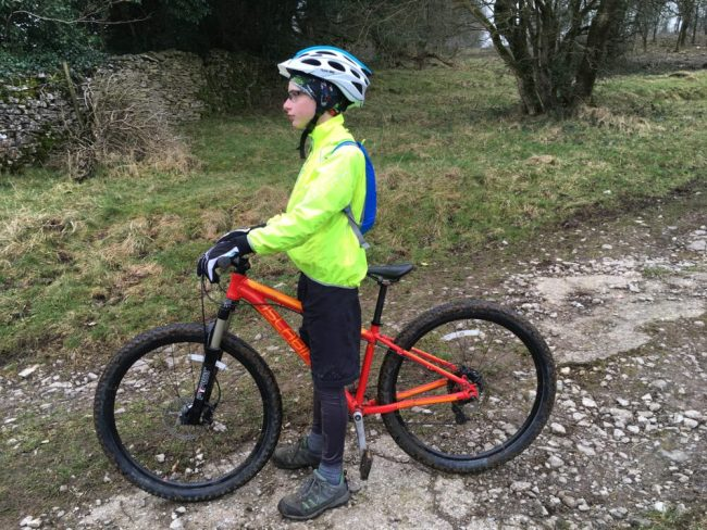 Polaris kids waterproof jacket and Islabikes Craig Mountain Bike