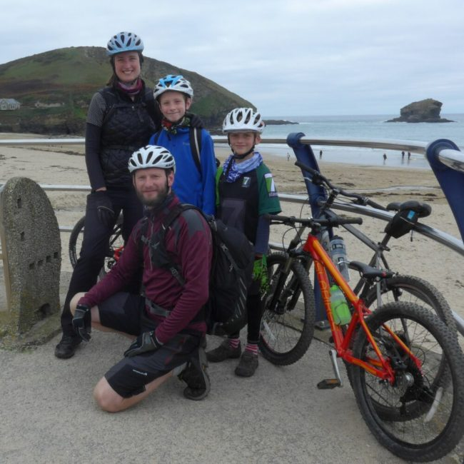 At the start of the Cornish Coast to Coast