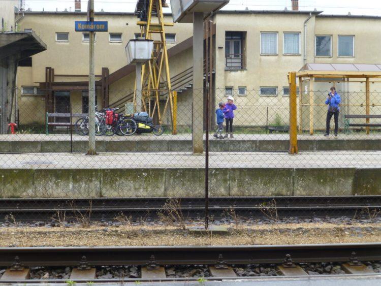 Waiting on the platform - Komorom Station