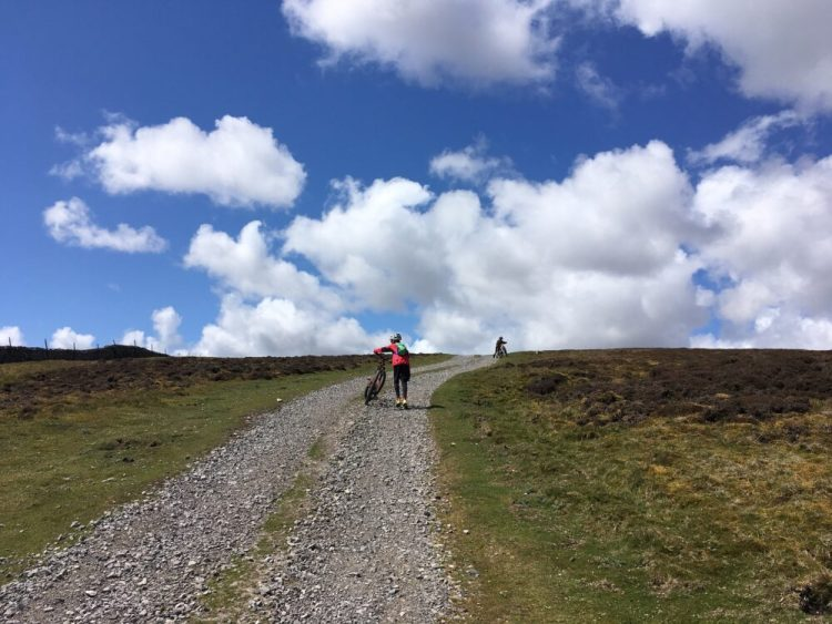 It's tough going on the first bike of ascent on our Yorkshire Dales MTB Ride