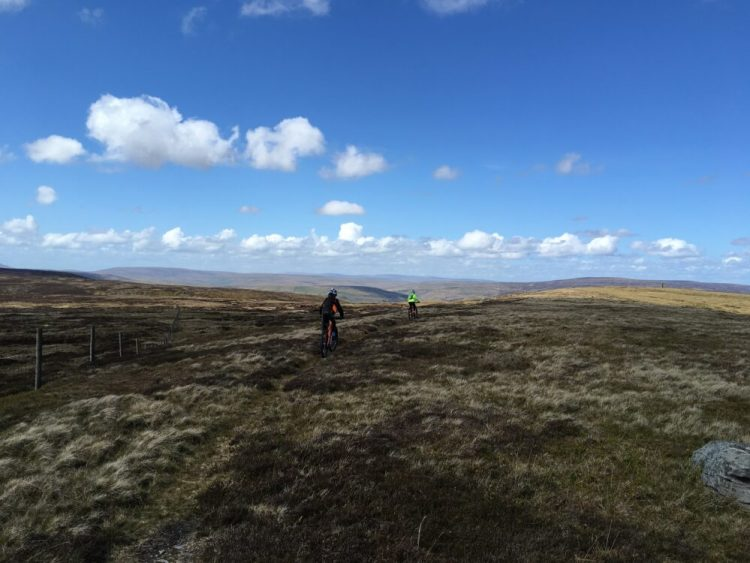 Family mountain biking in the Yorkshire Dales