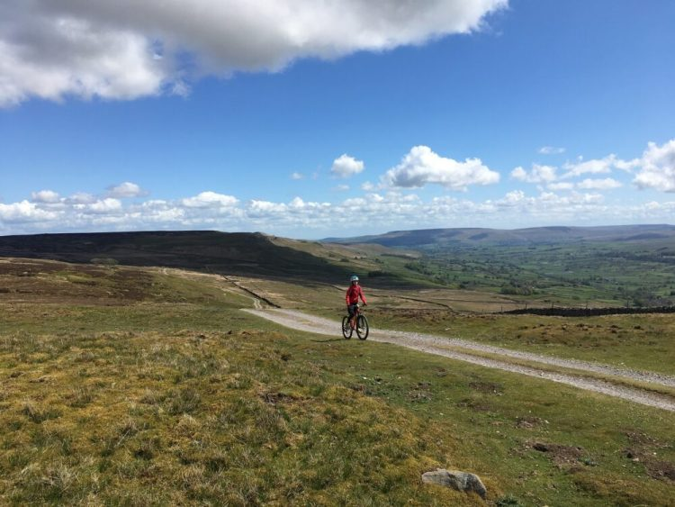 View from first ridge - Askrigg MTB ride Yorkshire Dales