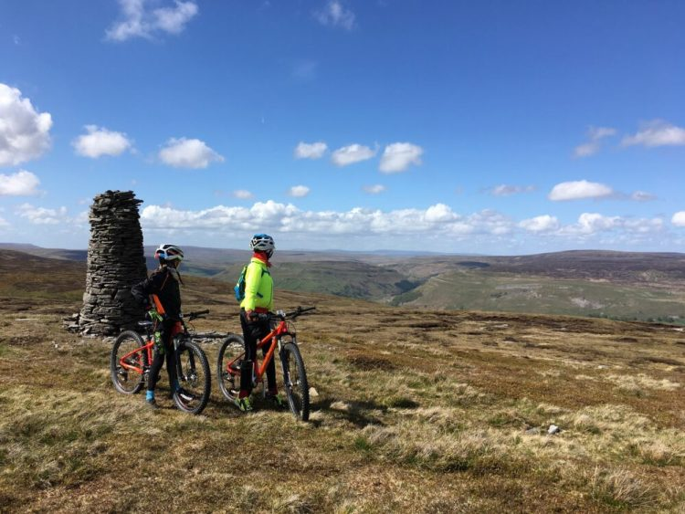 Review of the Islabikes Creig Mountain Bikes for kids - views from the top of the world, well Yorkshire Dales