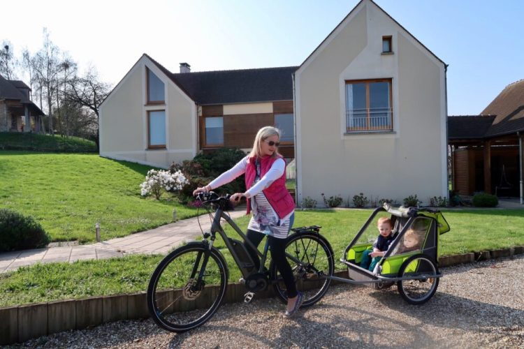 What's it like cycling with children in France?