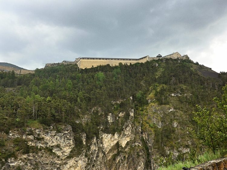 The military fortifications high up above the town of Briancon are no longer used for military purposes