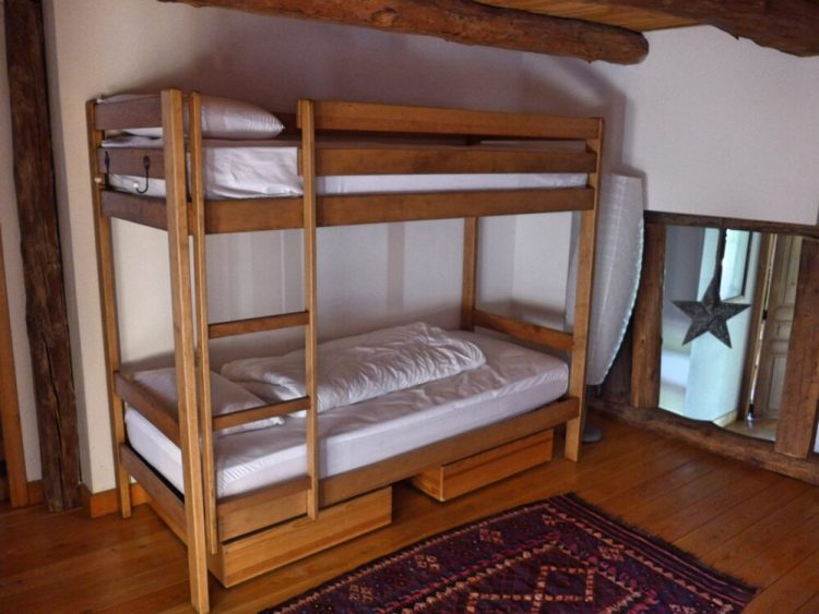 The two bunk beds at Maison Amalka are available if you book the entire chalet