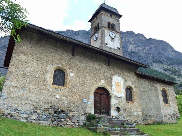 Vallée de la Clarée in the French Alps - Eglise Saint-Sébastien