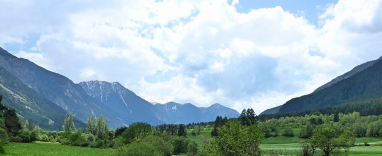 Location of our family cycling holiday in the French Alps