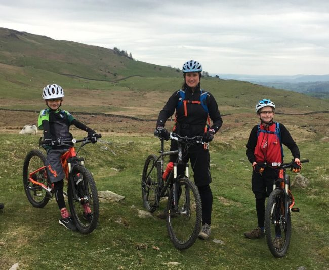 Cross country mountain biking with kids in the Lake District, Cumbria