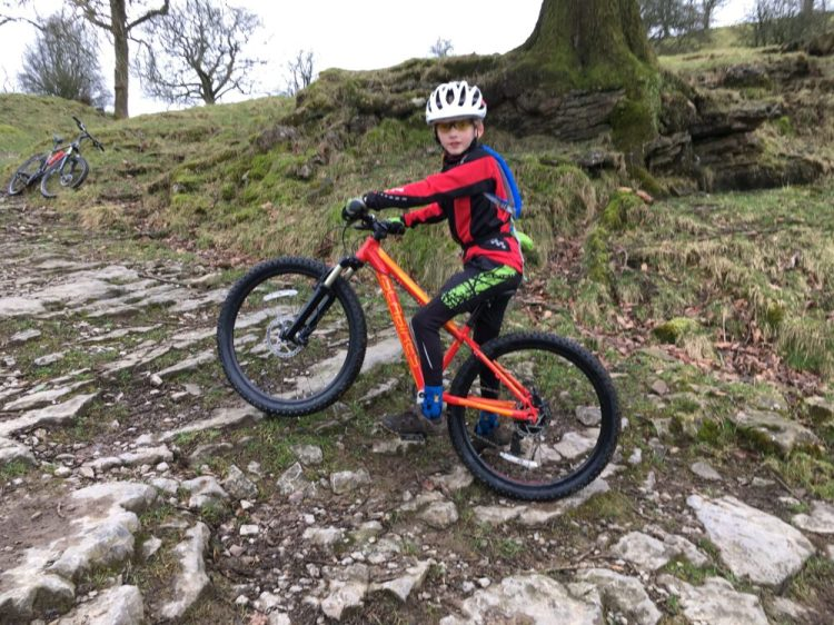 Review of the Islabike Creig 24 Kids Mountain Bike - setting off