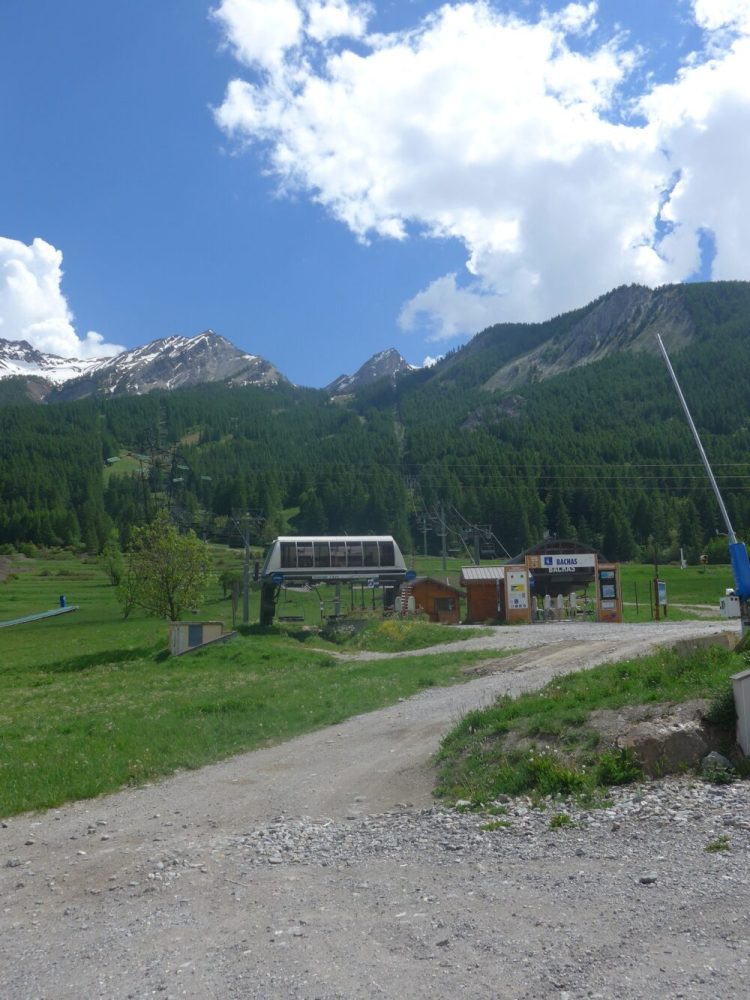 The ski lifts at Serre Chevalier