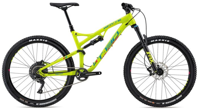 Whyte T-130SR in yellow and in xs frame size is one of the best full suspension kids mountain bikes