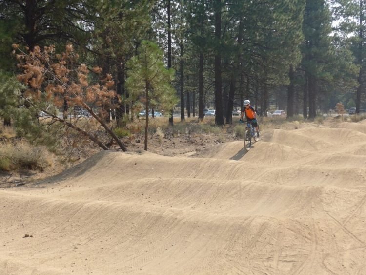 Bend Pump Track, pefect for Mountain Biking in Oregon with kids