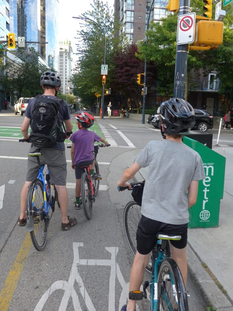 Cycling in central Vancouver