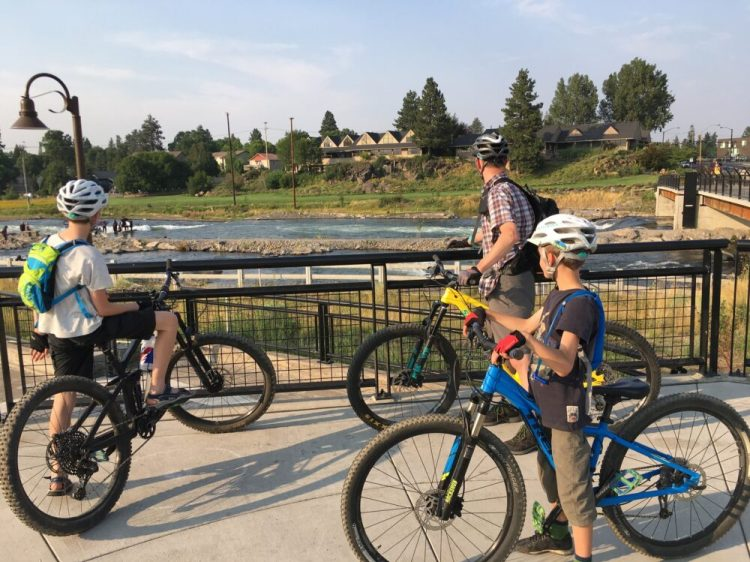 Bike ride in Bend, Oregon