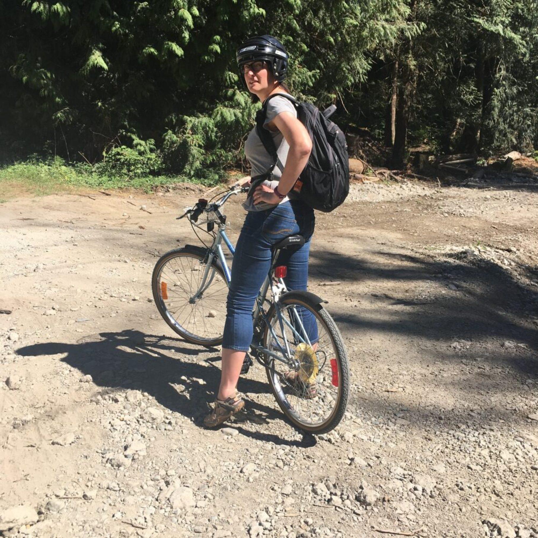 Karen cycling in Vancouver