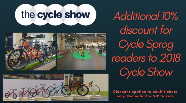 Promo code for 2018 Cycle Show - use this discount code to get an additional 10% off entry to the Cycle Show at the NEC