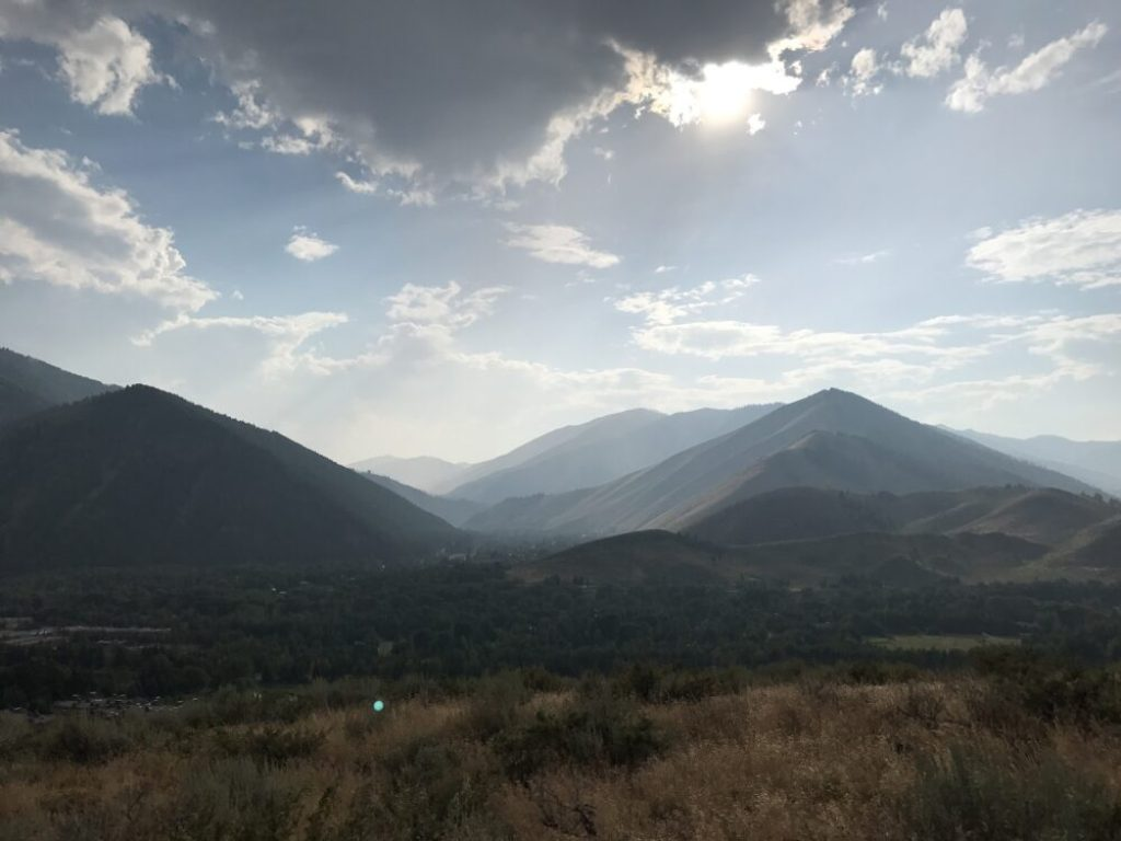 Sun Valley, Idaho, from the White Cloud Mountain Biking trail loop