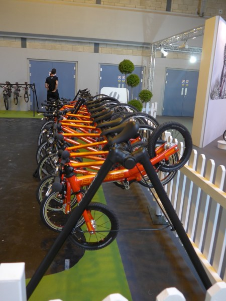 Islabikes demo fleet at the Cycle Show - use the promo code to get 10% off on entry to the 2018 Cycle Show