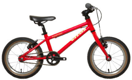 "Vitus Fourteen starter bike with 14"" wheels - suitable for ages 3 year olds, 4 year olds and 5 years old is the cheapest 14"" wheel kids bikes we've found"