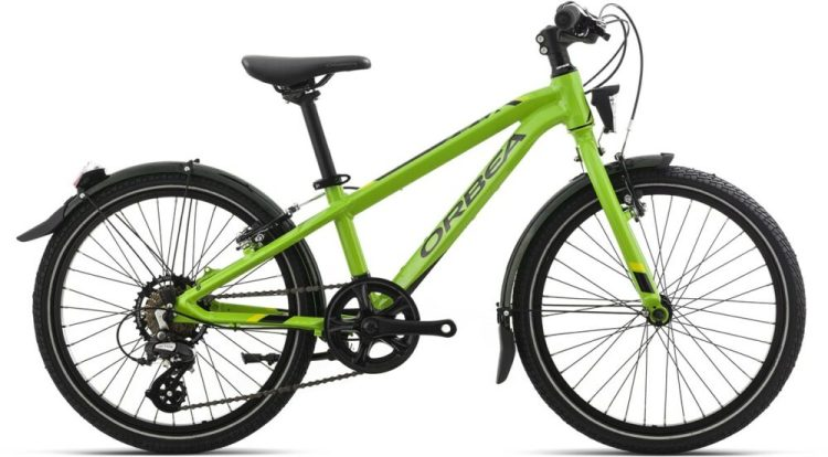 "Orbea MX20 Park in green - one of the best 20"" wheel kids bikes for tackling year round riding to school, plus weekend riding"